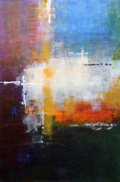 """Saatchi Online Artist: Ana Elisa Benavent; Acrylic 2012 Painting """"It Was A Busy Day"""""""
