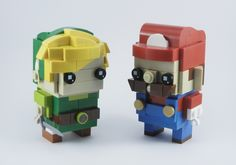 Link and Mario Brickheadz