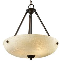 Elk Lighting Restoration Pendant Fixture In Aged Bronze - Intricate detailing, white antique glass and a restoration aged bronze finish combine to shed an illuminating glow on any decor. This Restoration pendant lamp will be the focal point of any room. 3 Light Pendant, Pendant Light Fixtures, Pendant Lighting, Pendant Lamp, Chandelier, Ceiling Fixtures, Elk Lighting, Lighting Ideas, Dining Lighting