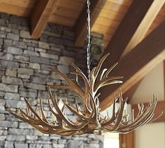 "Faux Antler Chandelier #potterybarn,  45"" diameter, 23.5"" high; 12' chain"
