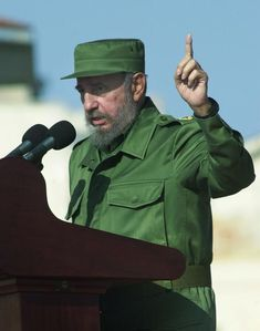We Know Who Fidel Castro is Today, but Where did He Come From?: Cuban President Fidel Castro speaks during a rally outside the U.S. Interest Section in Havana, Cuba. (June 21, 2004)
