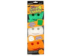 Spooky Scrubbers are here for a limited time! This set of 3 Special Edition Scrub Daddy sponges are happy to get your things creepy clean! Halloween 2017, Happy Halloween, Scrub Daddy, Scrubs, Creepy, Black Boots, Zip, Products, Work Wear