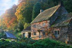 Autumn Cottage -- This cottage is next to the West Gate entrance to Fountains Abbey, Ripon, England