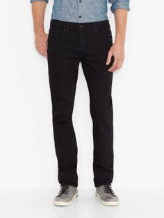 f02945ef727 Levi s 511 Men s Slim Fit Stretch Jeans - Black Frugal Male Fashion