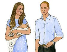 Prince William and Duchess Kate & Baby Prince George of Cambridge Paper Dolls