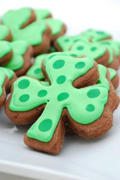 chocolate sugar cookies. st. patrick's day. easy recipe.
