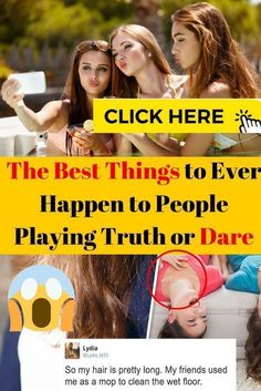 It's easy to get embarrassed during a game of Truth or Dare, but sometimes, magic can happen. Check out these incredible Truth or Dare stories. Truth Or Dare Stories, Sequin Jumpsuit, Bodycon Dress, Wet Floor, Star Print, Dares, Fun Facts, Long Sleeve Tops, Thats Not My