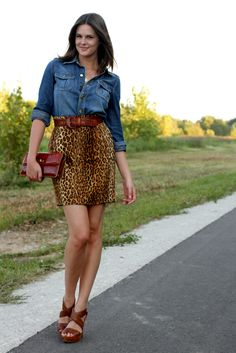90s chic! The denim and animal prints are making a come back!