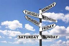 Hindi os dias da semana - Hindi Weekdays  Somvar - Segunda-feira - Monday Mangalvar - Terca-feira - Tuesday Budhvar - Quarta-feira - Wednesday  Guruvar - Quinta-feira - Thursday  Shukravar - Sexta-feira -Friday  Shanivar - Sábado - Saturday  Ravivar - Domingo - Sunday