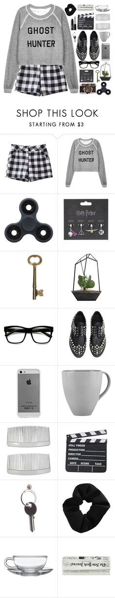 """ghost hunting ;; TFS for Nov 15 2017"" by artemishunters ❤ liked on Polyvore featuring Wildfox, ZeroUV, Case-Mate, Lenox, John Lewis, Maison Margiela, Topshop, NARS Cosmetics, simple and black"