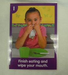 Daily Routine Cards (SCI*.13) 2 sets of daily routine cards - numbered 1 to 5.  Sets are: arriving in the classroom, circle time, coughing or sneezing, washing your hands, preparing to eat, cleaning up after lunch, brushing your teeth, and leaving the classroom.