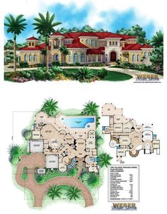 Mediterranean homes – Mediterranean Home Decor Open Floor House Plans, Porch House Plans, Cottage Style House Plans, Basement House Plans, House Plans One Story, Craftsman Style House Plans, Bedroom House Plans, Dream House Plans, Small Modern House Plans