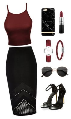 """Outfit #14"" by ancara on Polyvore featuring River Island, John Hardy, MAC Cosmetics, Burberry and H&M"