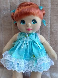My Child Doll Red DR Aqua Charcoal