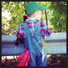 Toddler farmer DIY costume