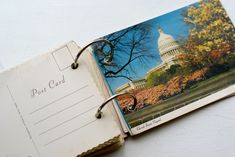 Collect postcards from every trip you go on. Write memories on the back.