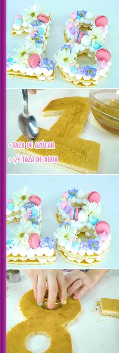 Beautiful Cakes, Amazing Cakes, Cake Cookies, Cupcake Cakes, Good Protein Foods, Fondant, Ramadan Decoration, Alphabet Cake, Monogram Cake