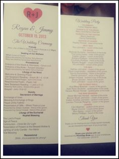 Elegant Wedding Program Church Program By Thememorytrunk On Etsy