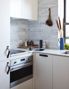"""Tiny New York apartment by Graham Hill """"functions like one twice its size"""" Studio Apartments, Apartments For Sale, Micro Apartment, Apartment Kitchen, York Apartment, Apartment Living, Home Office, Graham, Micro Kitchen"""