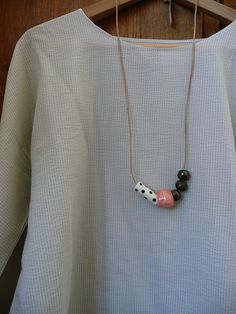 Mix Ceramic Bead Necklace by andODesign on Etsy,