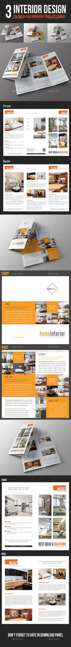 Interior Design Square 3-Fold Brochure V04 Brochures, Company - interior design brochure template