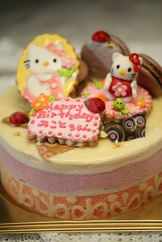 Hello Kitty's cake: キティちゃんのケーキ
