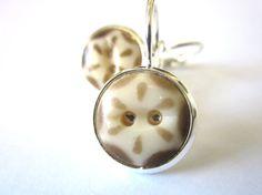 Antique button earrings. 1800s buttons