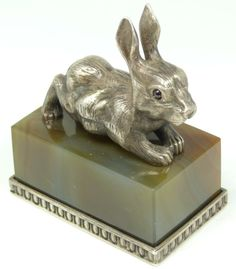 Russian Silver Rabbit. Marked Rappaport