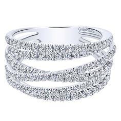 14k White Gold Diamond Fashion Ladies' Ring | Gabriel