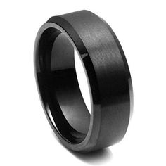 Safe Silicone Wedding Ring For The Working Man Black Wedding Rings, Black Rings, Wedding Ring Bands, Black Tungsten Rings, Vintage Engagement Rings, Solitaire Engagement, Ring Verlobung, Looks Style, Rings For Men