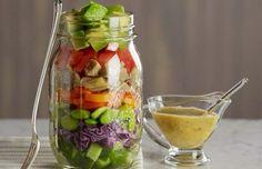 Como fazer salada em pote de vidro