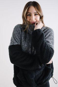The Waldorf Cozy Half Zip Pullover in Black