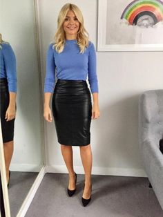 Holly Willoughby flaunted her recent weight loss in a waist-nipping skirt last week (pictu...