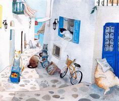 Greek Cats by polkapills on @DeviantArt