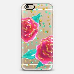 Happily Ever After - Gold Glitter Watercolor Roses #Casetify case by #AnnelineSophia. Make yours and get $10 off using code: DNNMRJ