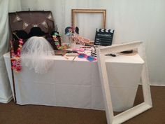 Wedding event hire  Photo booth props set up includes vintage suitcase ,a good selection of props and frames £30 hire fee weddings parties and events hire Cambridgeshire