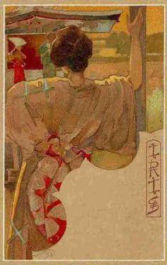 Iris, postcard (1898)