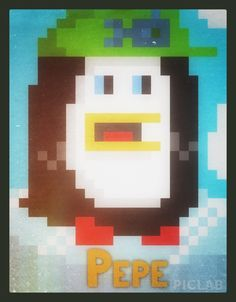 Pepe the Penguin 8 Bit Art, Penguins, Symbols, Create, Icons, Penguin