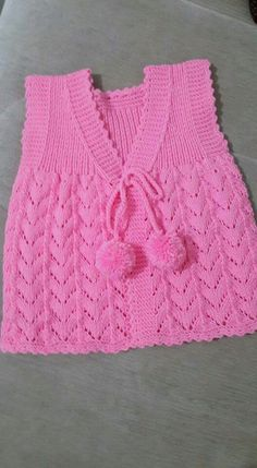 This Pin was discovered by Zey Baby Booties Free Pattern, Baby Cardigan Knitting Pattern, Knitted Baby Cardigan, Knit Baby Booties, Hand Knitted Sweaters, Baby Knitting Patterns, Knitting Designs, Crochet Patterns, Baby Girl Vest