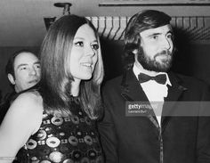 Actors Diana Rigg and George Lazenby at the premiere of the new James Bond film 'On Her Majesty's Secret Service' at the Odeon Theatre in Leicester Square, London, December 18th 1969.