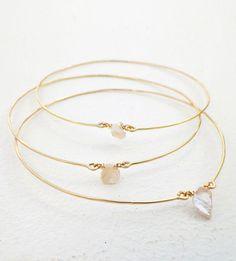 Ladies Slim Silver Subtle Triple Drop Necklace Black Clear Minimalist Zx77