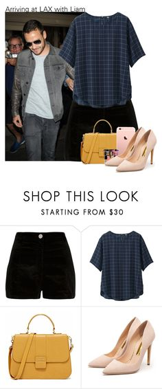 """""""Arriving at LAX with Liam"""" by fangirl-preferences ❤ liked on Polyvore featuring River Island, Uniqlo and Rupert Sanderson"""