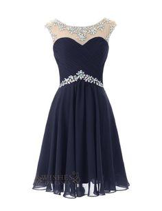 32d2c7c68af Sexy Royal blue Chiffon Short Cocktail Dress   Prom Dress  Homecoming Dress  Am246