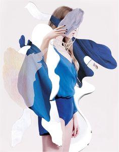"""Out of Imagination,"" featuring Karolina Sikorska, photographed by Nat Prakobsantisuk for Vogue Thailand (May 2014)."