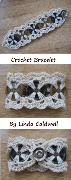 Linda Caldwell Crochet Button Bracelet - Google Search