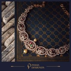 Elegance is not about being noticed; it is about being remembered. Be the memorable highlight of that special occasion with this uniquely crafted necklace. Diamond Jewelry, Gold Jewelry, Jewelery, Trendy Jewelry, Jewelry Trends, Dimond Necklace, India Jewelry, Gold Jewellery Design, Wedding Jewelry
