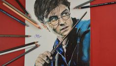 Subscribe now: https://www.youtube.com/channel/UCfWsUkz5X6KYdGMDn7isIIg     Watch more: https://www.youtube.com/watch?v=n77bdRHfFMc&list=UUfWsUkz5X6KYdGMDn7isIIg  Colored pencils drawing of Daniel Radcliffe as Harry Potter in Harry Potter and the deathly hallows. #harrypotter #youtube #drawing #drawinginpencils #deathlyhallows