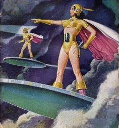 Space Vixens from Venus. On hover-boards. Cool as.