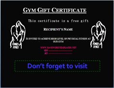 Personal Training Gift Certificate Template Free Gift Certificate Template And Tracking Log, 36 Free Gift Certificate Templates Bates On Design, Fitness Gift Certificate Templates 7 Free Word Pdf Documents, Free Gift Certificate Template, Gift Certificates, Most Likely To Awards, Letter Of Intent, Fitness Gifts, News Health, Free Gifts, Sample Resume, Best Gifts
