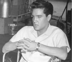"""Viva Elvis Presley And His Unique Fashion. He loved fashion like he loved his women. In 1961, while shooting the film """"Blue Hawaii"""", he fell in love with this Hamilton watch and its unique arrowhead design. What made it even greater was that the watch manufacturer introduced it as the first electronic watch. Elvis loved it so much that on Christmas eve 1965, he bought himself one. Find out more at http://caellisar.com/viva-elvis-presley-and-his-unique-fashion-sense."""